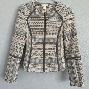 H&M Ivory/Grey Blazer size 2